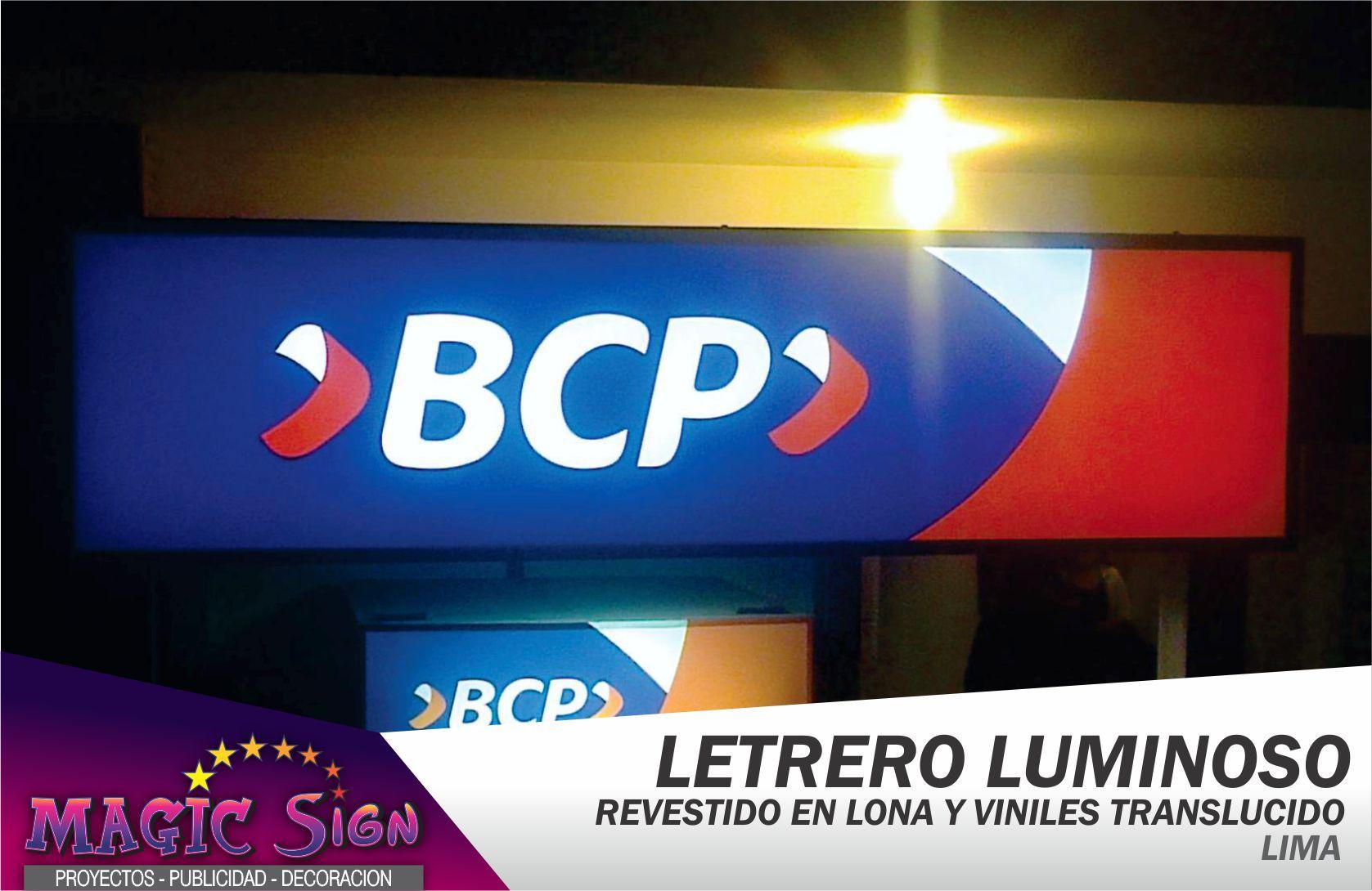 BCP LETRERO LUMINOSO