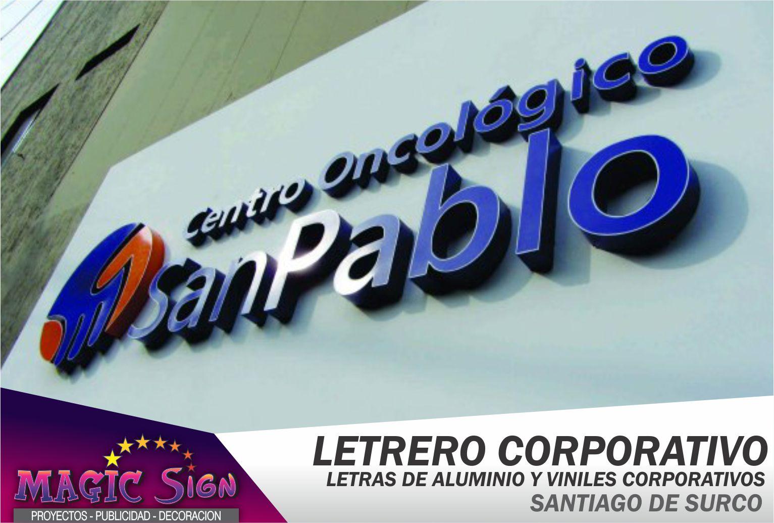 Letreros corporativos