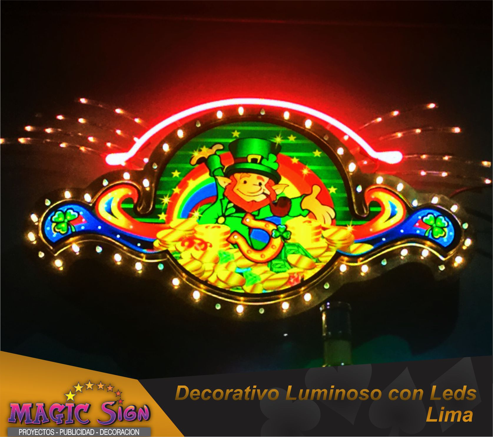 DECORATIVO LUMINOSO con led
