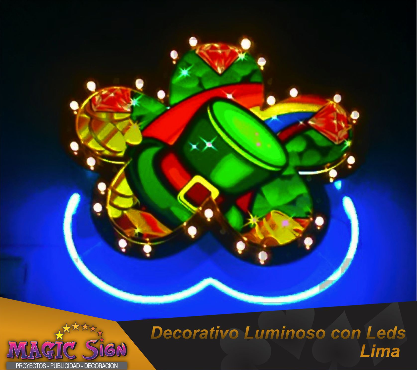 DECORATIVO LUMINOSO para casino