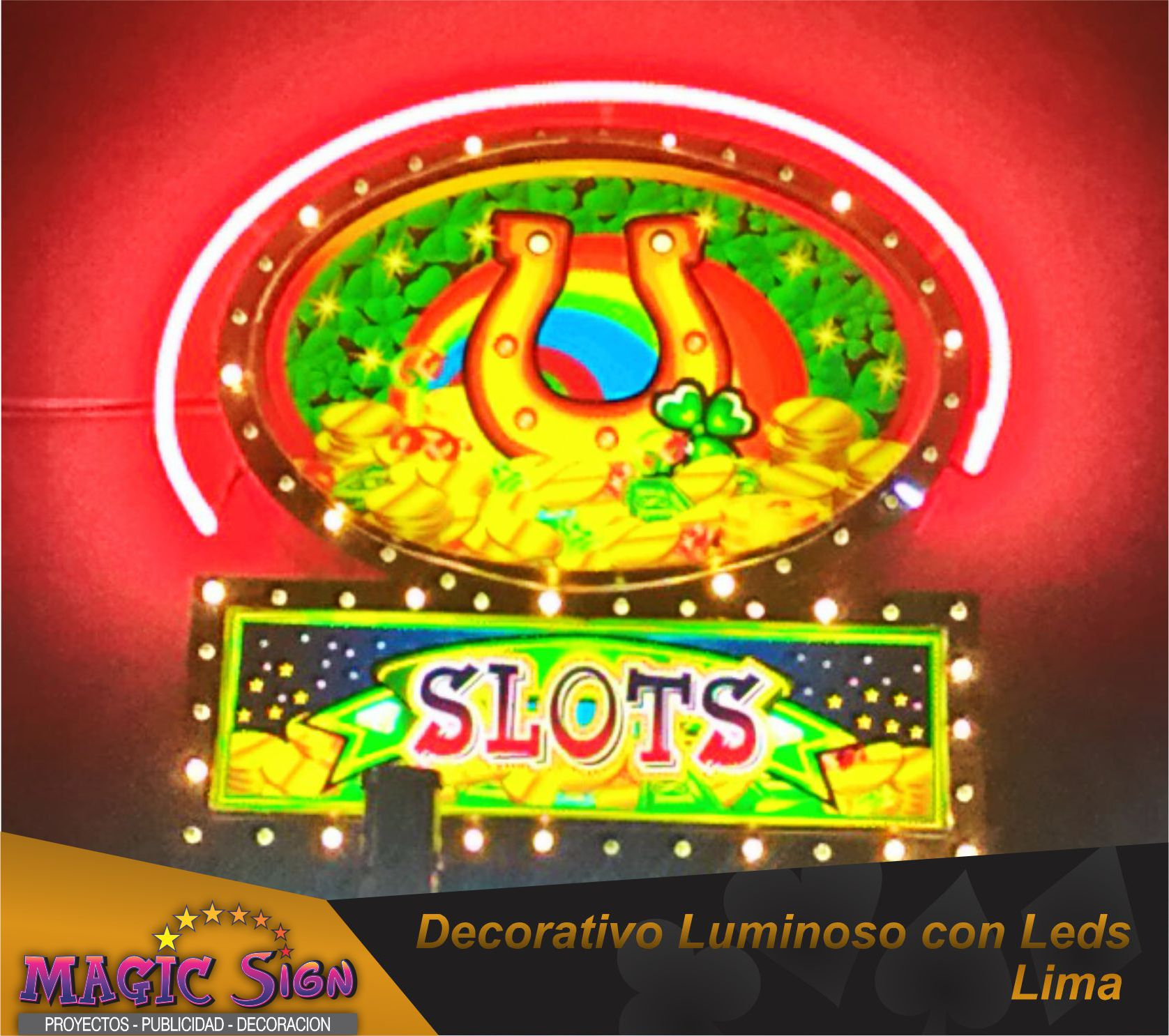 Led luminoso para casinos