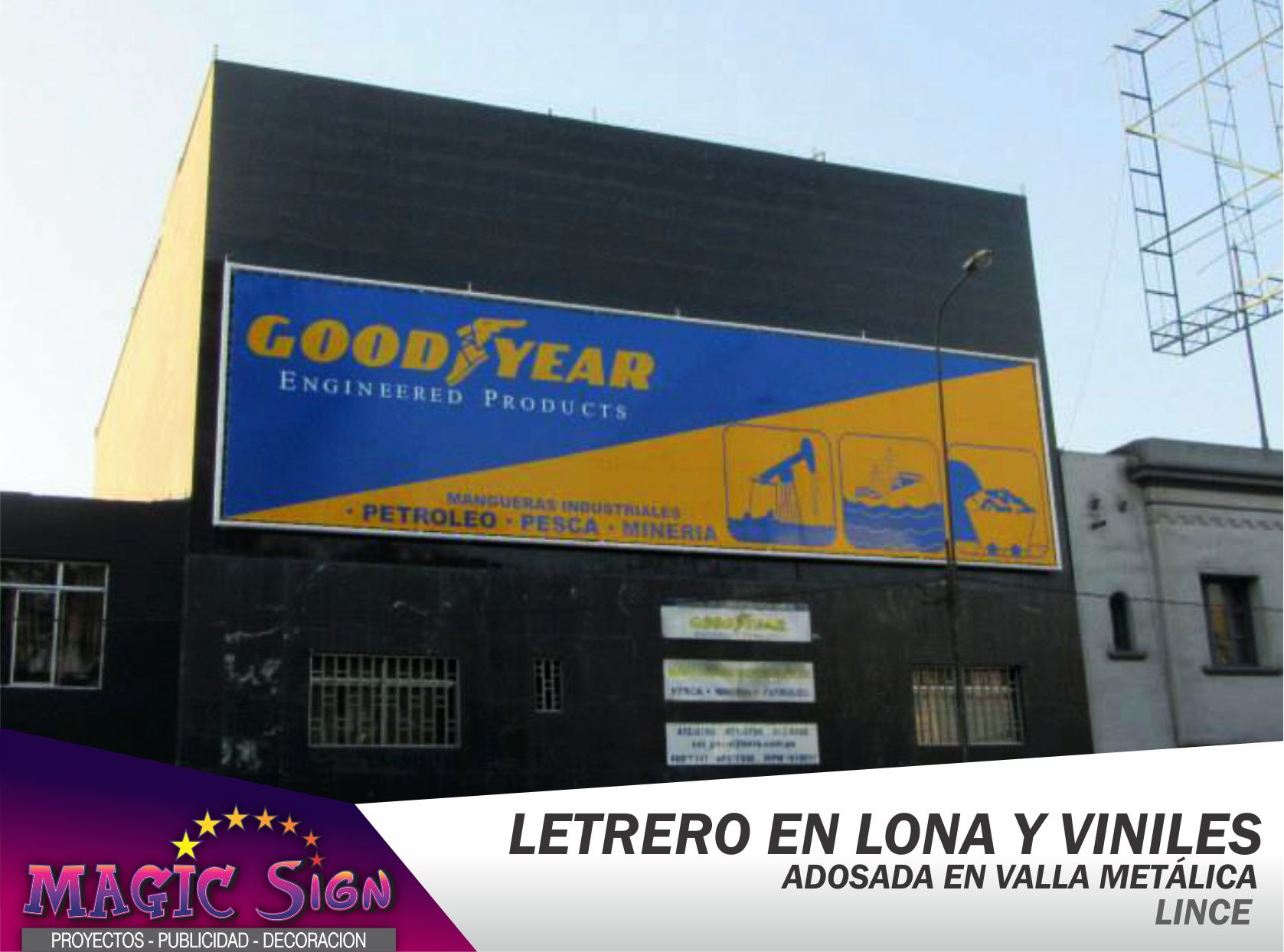 Letrero en Lona y Vinil