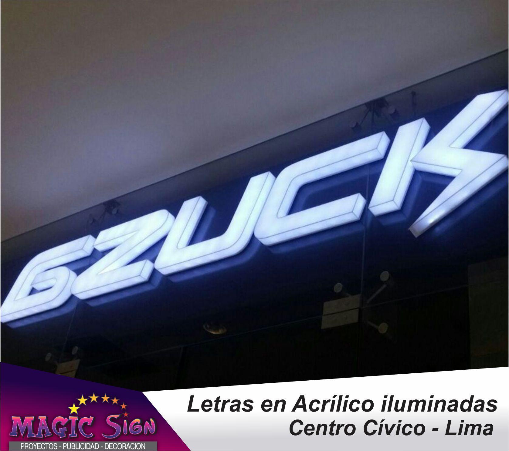 letras en acrilico iluminadas